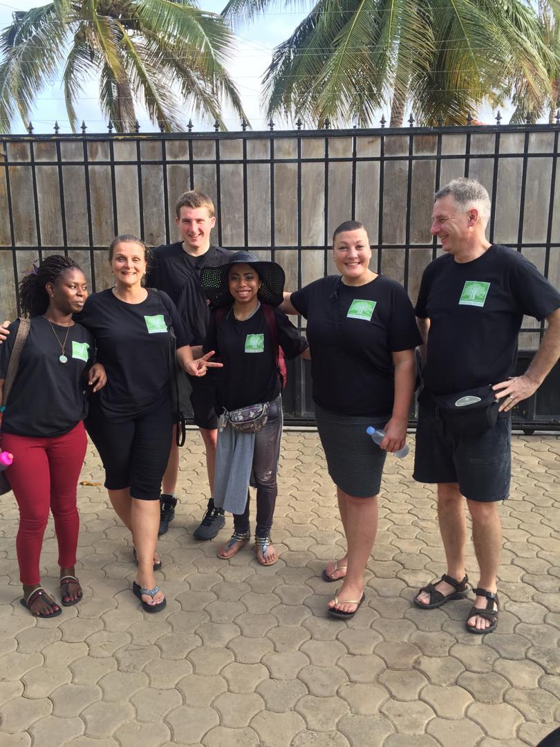 Team 2019 v.l.n.r. Aggy, Nicole, Calvin, Francesca, Monique en Branko