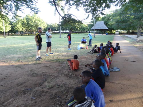 Football clinic with children from Sala Sala